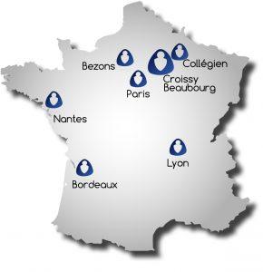 Carte de France Acorus