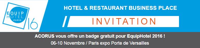 invitation Equip'hotel 2016
