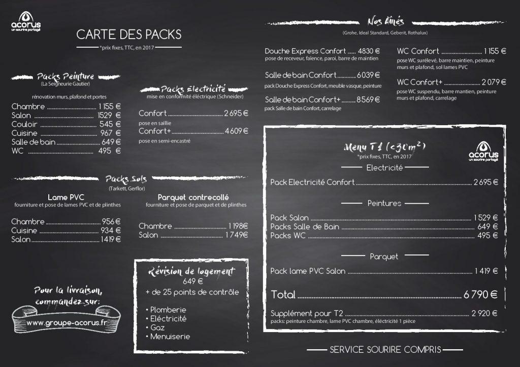 Carte Packs renovation