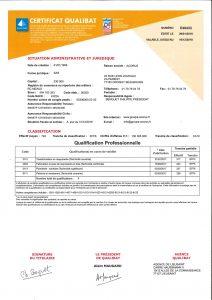 qualification qualibat Acorus